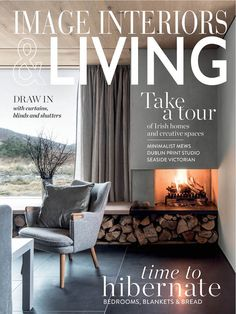 IMAGE Interiors & Living January/February 2019 Living Magazine, Interior Inspiration, Fashion Inspiration, Months In A Year, Editorial Photography, Luxury Branding, Dining Bench, Blinds, Pop Culture