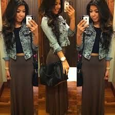i love this outfit  she's beautiful and skirt is top