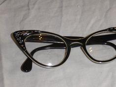 Black 1950s Cat Eye Glasses