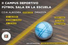 II Campus Deportivo Fútbol Sala en la escuela. Cartel.