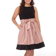 Black & Pink Satin Bow Dress.