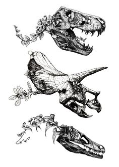 Jurassic Bloom. Art Print by Sinpiggyhead | Society6