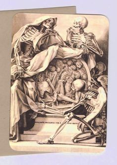 Note Cards Vintage Keepers of Death Gothic