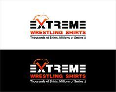 New logo for Extreme Wrestling Shirts pro wrestling mma apparel by leebun