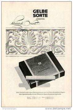 Original-Werbung/Inserat/ Anzeige 1960 - 1/1-SEITE : GELBE SORTE KLASSISCH ORIENT ZIGARETTEN - ca. 150 x 230 mm