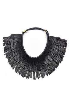 HAYDEN-HARNETT 'Ilaria' Leather Fringe Collar Necklace available at #Nordstrom
