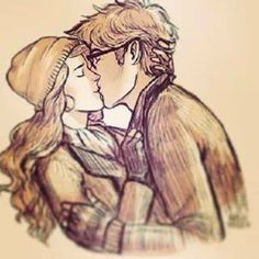 Harry and Hermione. amazing drawing love them Harry Y Hermione, Hermione Fan Art, Harry And Hermione Fanfiction, Harry And Ginny, Ginny Weasley, Hermione Granger, Harmony Harry Potter, Harry Potter Ships, Harry Potter Wedding