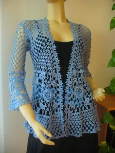 "<3 crocheted clothing! - perfect for spring... light, lacey, and oh so lovely! [   ""Looking for crocheting project inspiration? Check out Lace Jacket by member Tanja."",   ""I need someone to make this for me Lace Jacket - Oh my, I hope my skills are up to the task!"",   "" - perfect for spring. light, lacey, and oh so lovely!"",   ""Lace Jacket - I would do very bad things for this pattern."",   ""Turn it into a vest"" ] #<br/> # #Crochet #Woman,<br/> # #Crochet #Lace,<br/> # #Crochet #Tops,<br/> #…"