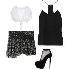 """Mini Skirt"" by damali64 on Polyvore"