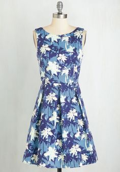 SWAPPED Paradise To Meet You Dress in Palm Trees | Mod Retro Vintage Dresses | ModCloth.com