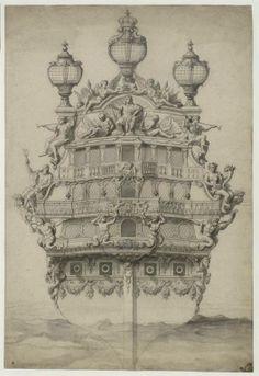 Pierre Puget (1620-1694) – Poupe de vaisseau royal – Paris, Ecole Nationale Supérieure des Beaux-Arts