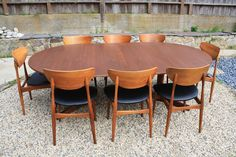 Vintage Mid-Century Dining Table with Leaves