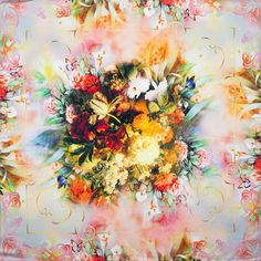 100% Silk Scarf Women Scarf Flower Neckerchief Scarf Silk Bandana 2017 Top Print Small Square Silk Scarf Luxury Gift for Lady