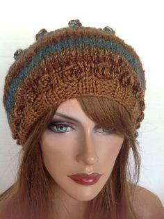 Beanie Slouch Hand Knit Beret Designer Fashion Hip Boho Winter Chic #HandKnits2Love #SlouchBeanieBeretCapHat