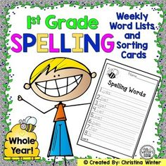 1st Grade Spelling Word lists NOW EDITABLE Are you looking for a strong, skill building phonics component for your Common Core ELA program? This is what you need to get a successful spelling program running in your classroom TODAY! For over 10 years, I have used these spelling lists for