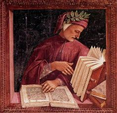 Luca Signorelli, Dante in his Study on ArtStack #luca-signorelli #art