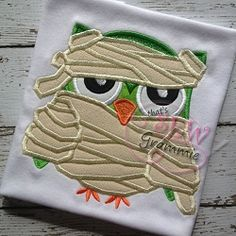 Mummy Owl Applique - 4 Sizes! | Halloween | Machine Embroidery Designs | SWAKembroidery.com that's SEW Grammie!