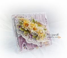 Layered card with Violet Love collection by Studio 75 #cardmaking #scrapbooking
