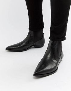 Looking for Men's Vegan Cowboy Boots? We've rounded up over 11 boot options that look just like genuine leather. Chelsea Boots Outfit, Black Chelsea Boots, Vegan Cowboy Boots, Vegan Boots, Black Dress Shoes, Dress With Boots, Mens Heeled Boots, Cuban Heel Boots, Western Boots For Men