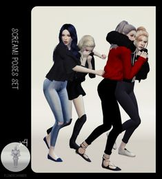Flower Chamber: SCREAM! Halloween poses set • Sims 4 Downloads