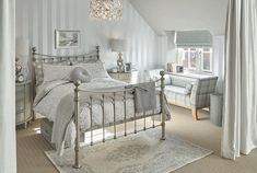 We round up our favourite all-time Laura Ashley bedrooms taken from catalogues past and present. Read on for all of our bedroom ideas. White Gray Bedroom, Bedroom Orange, Laura Ashley Bedroom, Bedroom Decor, Bedroom Ideas, Bedroom Curtains, Modern Bedroom, Single Bedroom, Dark Furniture