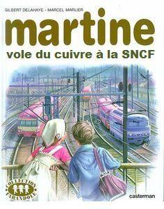 Martine vole du cuivre à la SNCF