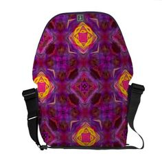 Purple Kaleidoscope Pattern Hippie Art Courier Bags | Hippie Bag - http://www.hippygiftshop.com/purple-kaleidoscope-pattern-hippie-art-courier-bags-hippie-bag/ #bag #hippiebag #bags #hippie #gifts