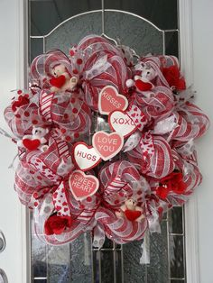 Love You Wreath by OccasionallyWreaths on Etsy