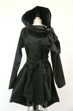 Maria Severyna Black Twill Trench Jacket Coat Steampunk by DDreamCloset