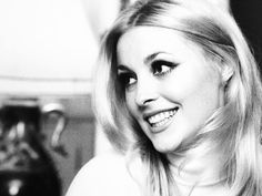 Sharon Tate at home in London, 1965