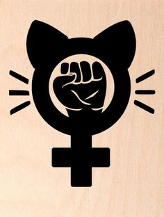 Resist Fist Rubber Stamp Pink Pussy Hat Venus Sign Feminist