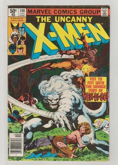 Uncanny X-Men Vol 1 140 Bronze Age Comic by RubbersuitStudios #xmen #alphaflight #comicsforsale