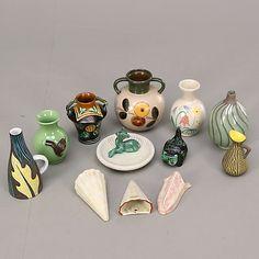 KERAMIKFÖREMÅL, 12 st, Upsala-Ekeby. Keramik & Porslin - Europeiskt – Auctionet