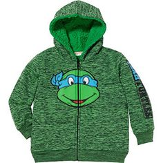 afb51f9a90e3 Superhero Tmnt Little Boys Full Zip Hoodies Jacket Ninja Tmnt). Space Dye  print with superhero applique on front and print on sleeve.