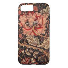 William Morris Honeysuckle Vintage Pattern iPhone 8 Plus Case - A beautifully feminine William Morris floral iPhone case from Encore_Arts on Zazzle. Girly Phone Cases, Iphone Phone Cases, Ipod Cases, William Morris, Ipad Air, Iphone 8 Plus, Floral Iphone Case, Usb, Iphone Accessories