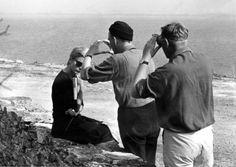 Ingmar Bergman and Sven Nykvist framing a close-up of Bibi Andersson as Alma in Persona, 1966. Photo: Bo A. Vibenius