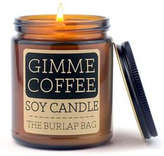 Hand poured in Austin Texas, all The Burlap Bag candles are vegan and cruelty free, use 100% natural soybeans and packaged in eco friendly biodegradable and recyclable packaging. Gimme Coffee smells like espresso with a hint of sugar and cream – just like how your own cup of coffee may smell like. It'd also make a seamless addition to a woodsy room with its amber glass jar and black metal lid.