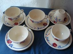 LOT DE 5 TASSES LUNEVILLE KG