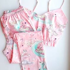 Cute Pajama Sets, Cute Pjs, Cute Pajamas, Girls Pajamas, Pajamas Women, Cute Sleepwear, Sleepwear Women, Lingerie Outfits, Women Lingerie