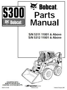 bobcat 743 skid steer loader parts manual pdf