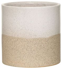 Speckled  'Barbara' Ceramic Plant Pot: A two-tone, subtly speckled plant pot from Bloomingville.  Bloomingville is deeply rooted in the famed Danish aesthetic tradition and has always been working to bring new life and small surprises into modern homes.