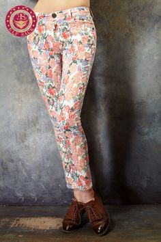 Women's Spring Designer Fashion Rural Floral All-Match Pants, $59
