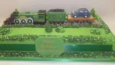 Edible Cake Topper Round 184 Personalised Steam Train