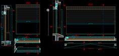 Rollup door curtain (dwgAutocad drawing)