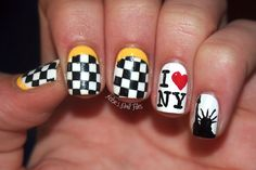 New York,  New Yawk..I would have made one of the checkerboard nails an apple, a big one! ;D