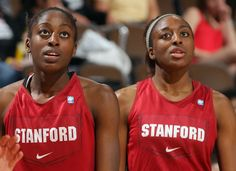 Ogwumike sisters of Stanford Women's BB team who will play in the Women's Final Four in Denver, Colorado beginning on April 1, 2012.