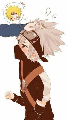 Oh mo dezu Naruto Vs Sasuke, Anime Naruto, Kakashi And Obito, Naruto Cute, Naruto Shippuden Anime, Cute Anime Guys, Otaku Anime, Manga Anime, Team Minato