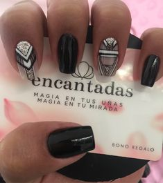 Black Nails, White Nails, Geometric Nail, Dope Nails, Cute Acrylic Nails, Nail Decorations, Perfect Nails, Manicure And Pedicure, Natural Nails