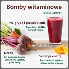 Healthy Juice Drinks, Healthy Juices, Smoothie Drinks, Fruit Smoothies, Detox Drinks, Healthy Smoothies, Helathy Food, Raw Food Recipes, Healthy Recipes