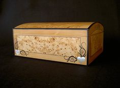 Jewellery Box In Huon Pine Burl